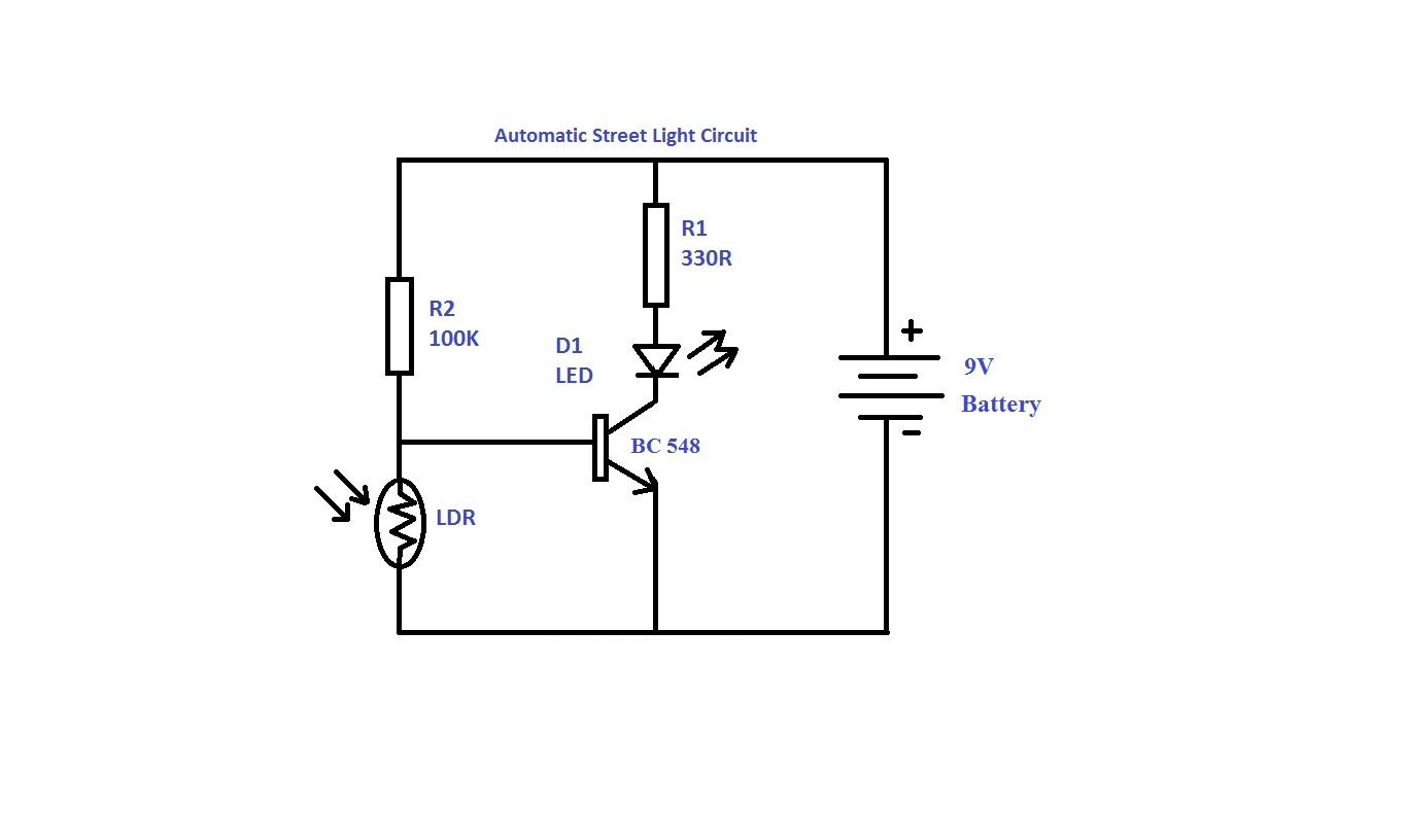 Circuit Diagram: automatic-street-light